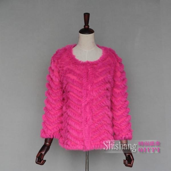 2015 годы торговли маленький кролик длинные вязать в специальные руки волнистая шерсть пальто вязаный мех
