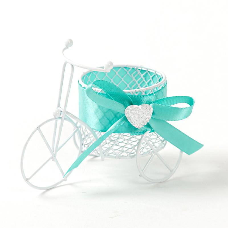 结婚礼用品铁艺糖盒宝宝满月百天周岁欧式个性自行车婚礼喜糖盒子