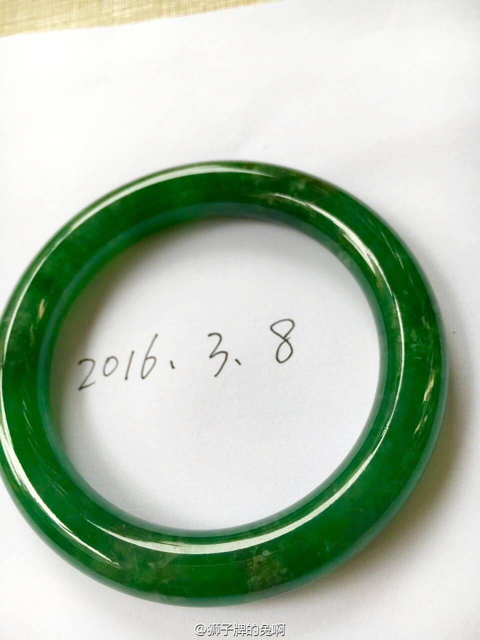 老坑冰种 水润起光 整圈满阳翠辣绿 正装圆条翡翠手镯 底价出