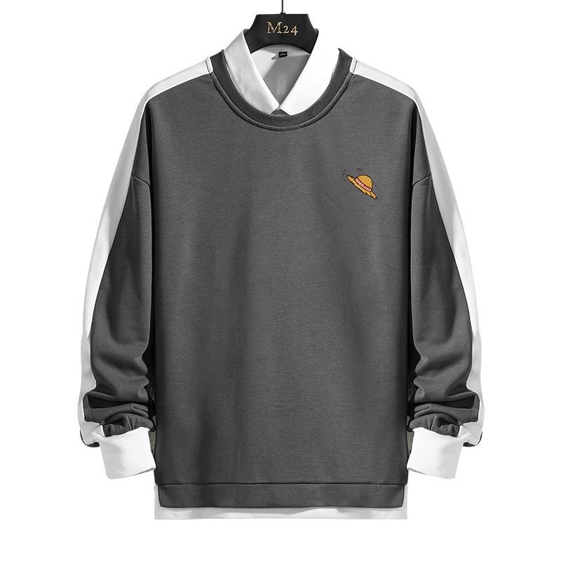 超爆款W309P35 长袖T恤印花男装韩版青年秋季上衣体恤打底衫卫衣