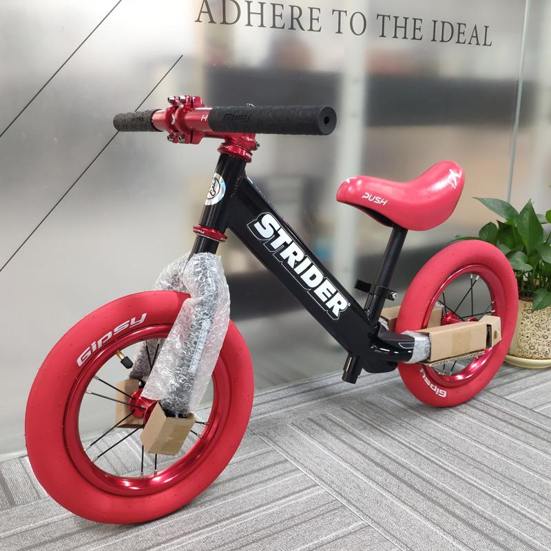 美国滑步车strider Pro儿童平衡车铝合金超轻双轮无脚踏1-6岁