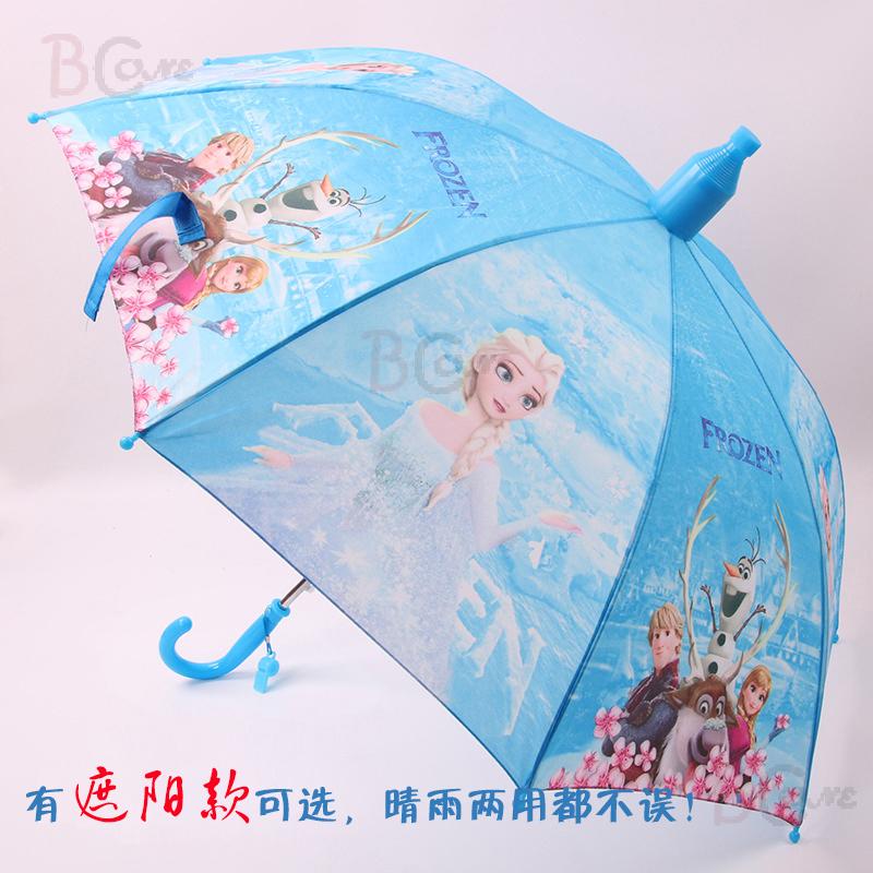 子供の傘女の子の日よけの日傘子供の子供の雪と雪の女王エルサ王女の傘