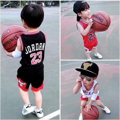 男童夏款洋气套装中小童篮球服男女童背心1-2-3-5-6岁短裤套装潮