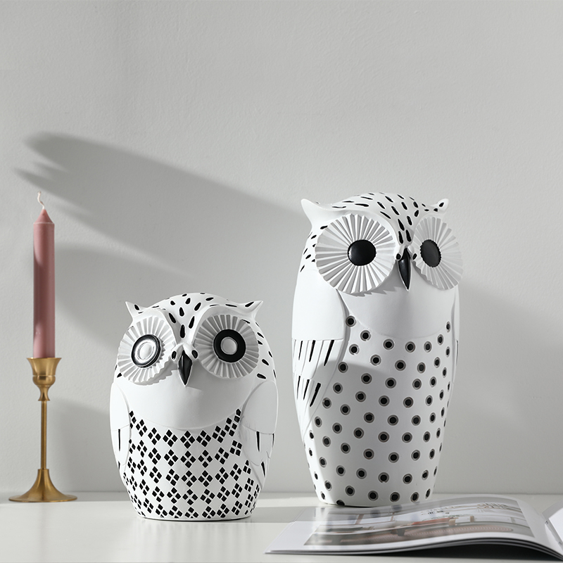 Nordic home decoration modern simple living room office study decoration soft owl creative decoration