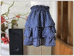 Two color export Ribenyuandan Shuiyu dot silk texture of cake skirt skirt skirt wrapped chest shirt do