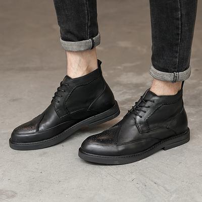 马丁靴 男靴切尔西 男 靴 男鞋 秋季高帮皮靴男士中帮588-9-P265
