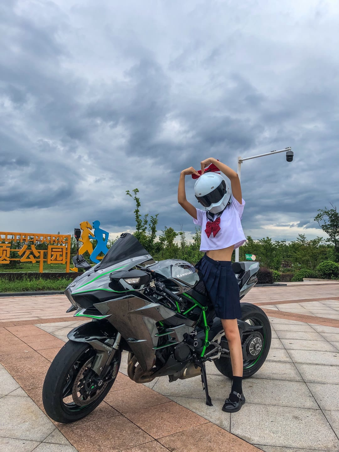 Imported Kawasaki H2R sports car Yamaha R6 locomotive Mini Ninja race horizon 250cc Aurora Borealis motorcycle