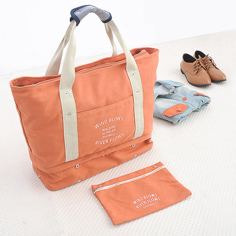 Fitness outdoor travel bag multifunctional retractable travel clothes shoes luggage storage bag Canvas Shoulder Bag