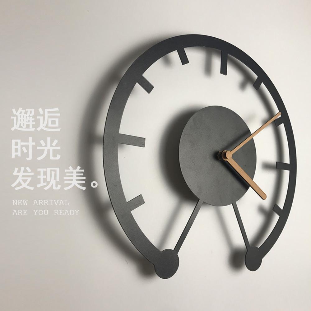 家用时钟客厅鐘錶挂钟北欧现代简约个性创意时尚时鈡原创设计钟表