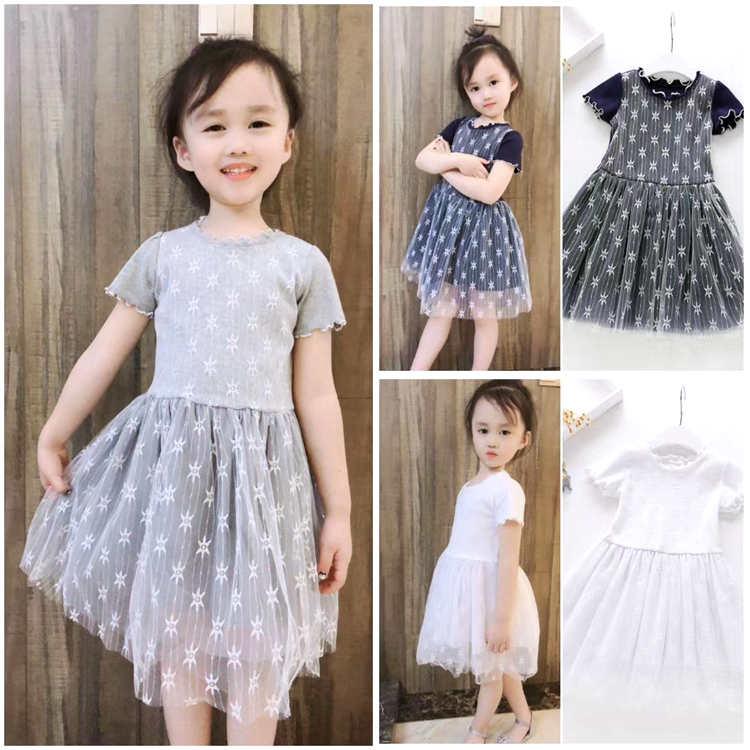 Summer dress clearance girls lace short sleeve dress dress dress