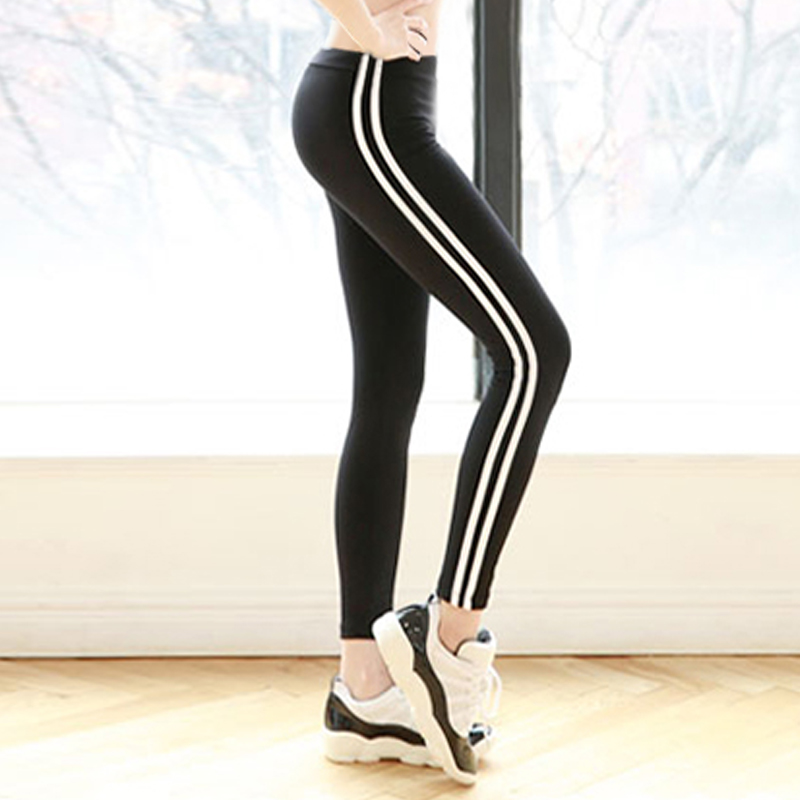 Large size sports pants dress fat MM200 Jin thin fat sister autumn running fitness pants baggy pants