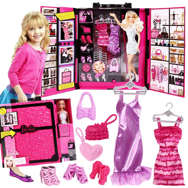 芭比娃娃套裝大 夢幻衣櫥X4833閃亮度假屋Barbie女孩 玩具
