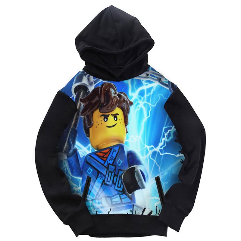 (用1元券)乐高幻影忍者秋冬卫衣长袖连帽儿童装亲子装卡通人物LEGO周边衣服