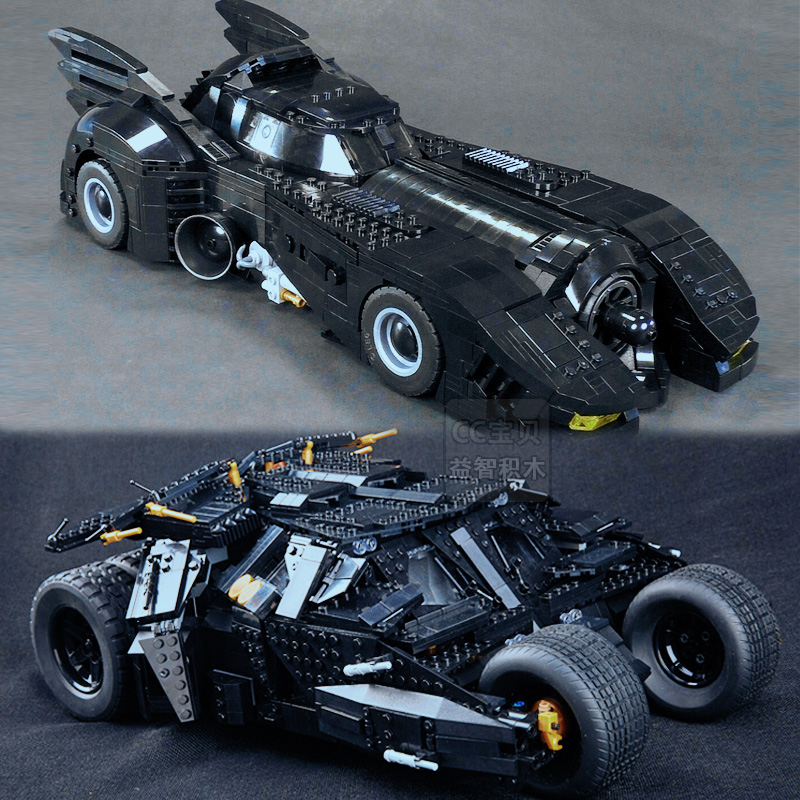 兼容乐高超级英雄系列终极蝙蝠侠大战车1989经典限量汽车积木模型