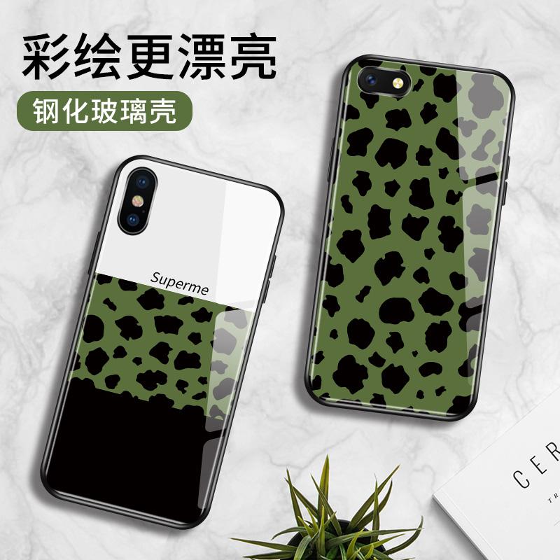 苹果11pro手机壳xr情侣个性iphone7绿豹8plus硅胶6s钢化玻璃XSMAX