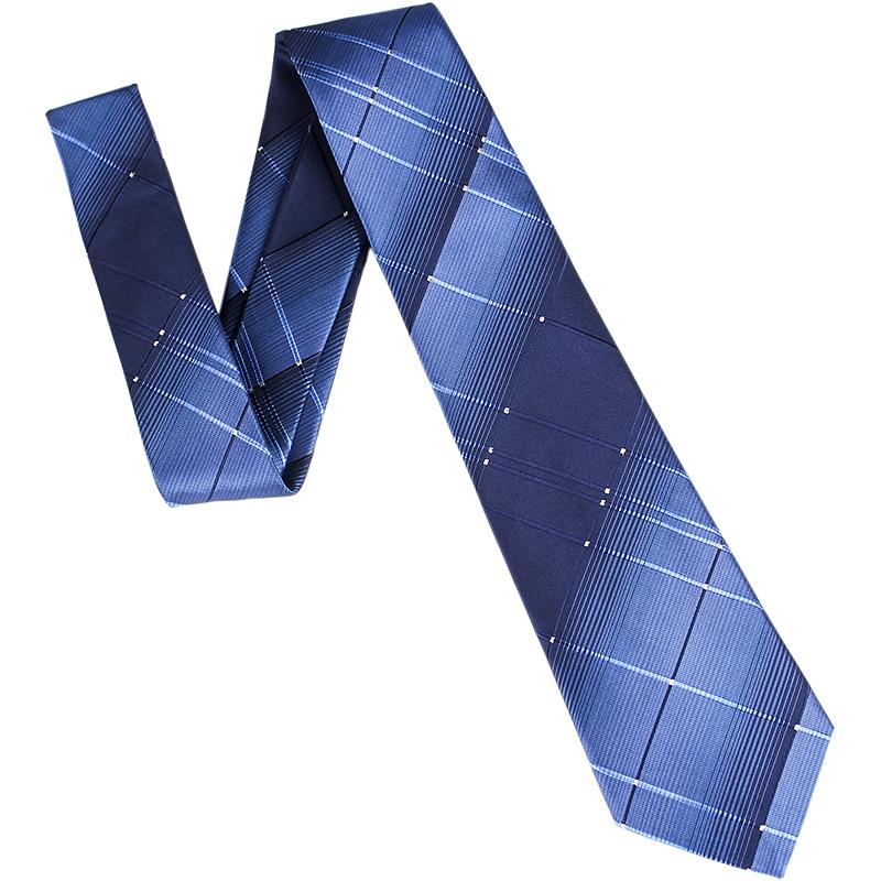 领带男商务正装职业工作结婚礼新郎宽版8CM条纹酒红蓝黑保安4S店