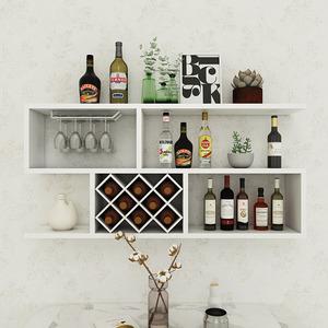 现代简约墙上酒柜壁挂式创意红酒架客厅实木墙壁装饰悬挂式置物架