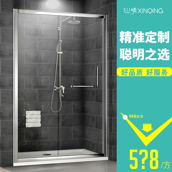 Сердце прозрачное стекло для ванной комнаты дверь Туалетный душ отдельная душевая комната с душевой кабиной слово Душевая кабина