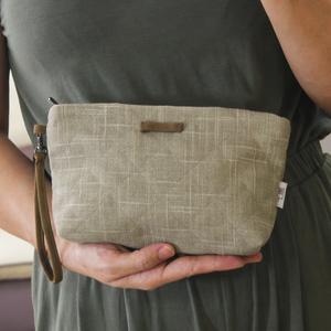 薰子帆布简约手包 钱包收纳洗漱手拿包大容量化妆包 小布包女包