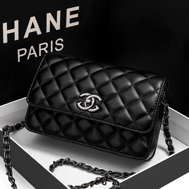 Womens bag 2020 new fashion Korean soft leather rhombic Chain Bag Fashion Shoulder Bag Messenger Bag portable womens bag