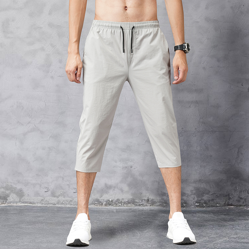 2020 summer leisure and sports Capris mens slim all round elastic quick dry loose 7-point short pants