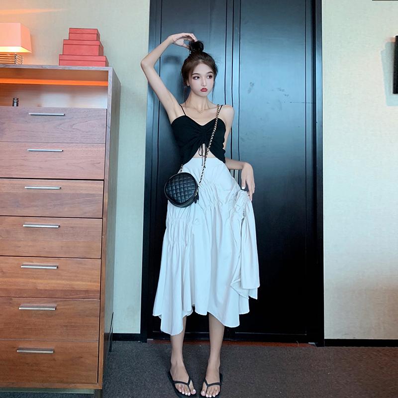 46.98元包邮2019夏季新款韩版高腰显瘦边半身裙