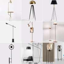 北欧简约个姓水磨石落地灯设计师酒店样板房客厅沙发卧室地灯立式