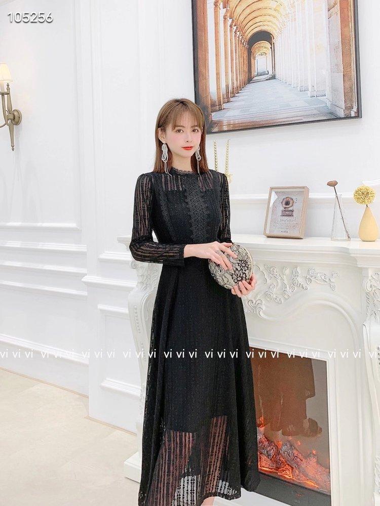 2021冬季新款連衣裙春夏新款蕾絲長裙時尚氣質收腰名嬡聚會宴會連