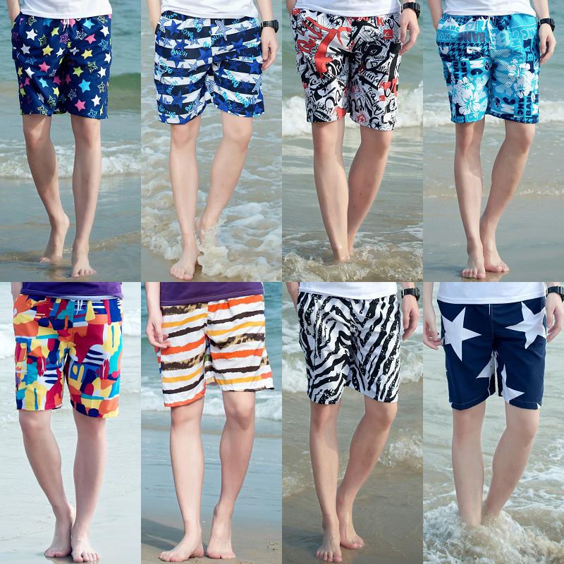 Mens beach pants summer loose Home Shorts mens summer quick drying large underpants sports Capris casual pants