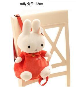 毛绒幼儿园书包婴儿童小孩女宝宝小朋友可爱卡通兔1-3岁2双肩背包