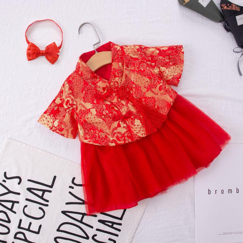 需要用券女宝宝夏装0-1周岁礼服2儿童裙子