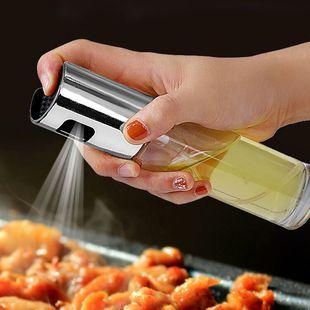 按压玻璃喷雾油壶家用厨房油罐防漏装醋壶小号酱油瓶调料瓶图片
