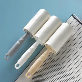 衣物去除尘滚筒粘毛器可撕式粘尘纸替换衣服便携式毛刷毯黏灰滚子图片