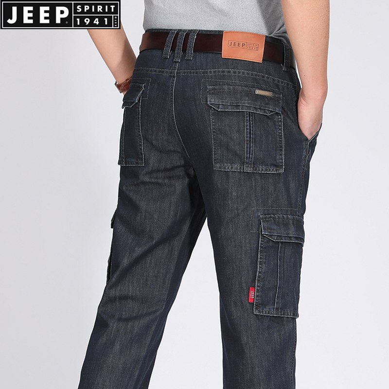 券后139.00元jeep /吉普男直筒宽松2019牛仔裤