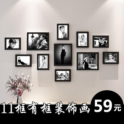 奥黛丽赫本海报 墙壁画复古玛丽莲梦露装饰画明星人物挂画有框画