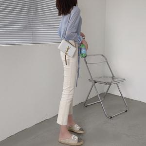 2021新款小直筒高腰显瘦小脚裤子