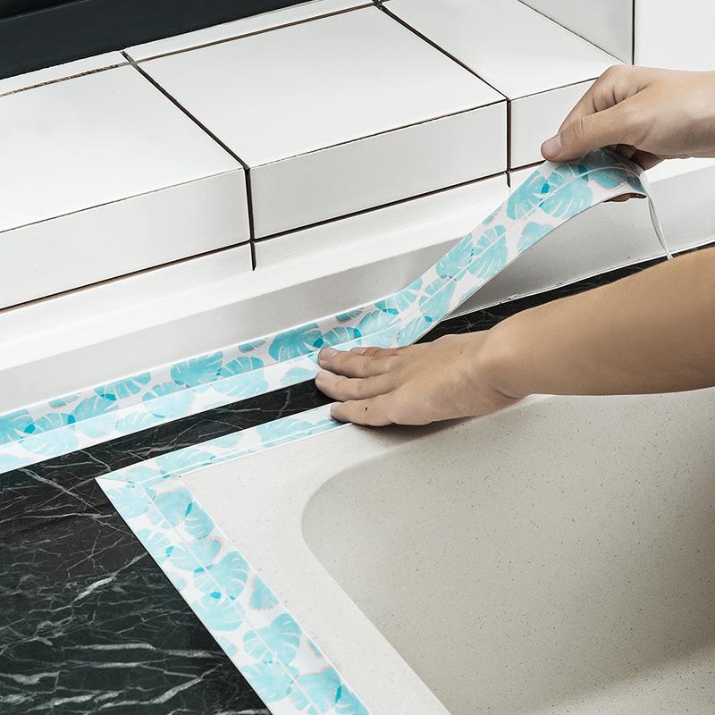 2018厨房防水防霉胶水槽门窗缝隙贴玖悦家用美缝贴水槽贴工厂直销