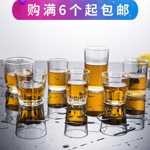 钢化玻璃杯子 圆杯八角杯茶杯啤酒杯洋酒杯威士忌杯加厚酒吧KTV