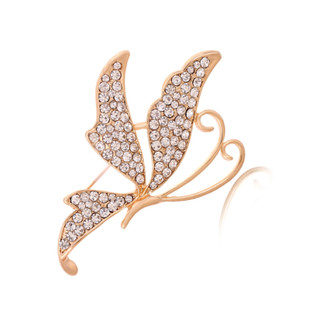 Good jewelry decorated fine jewelry diamond butterfly Brooch Brooch Korean fashion brooch pin
