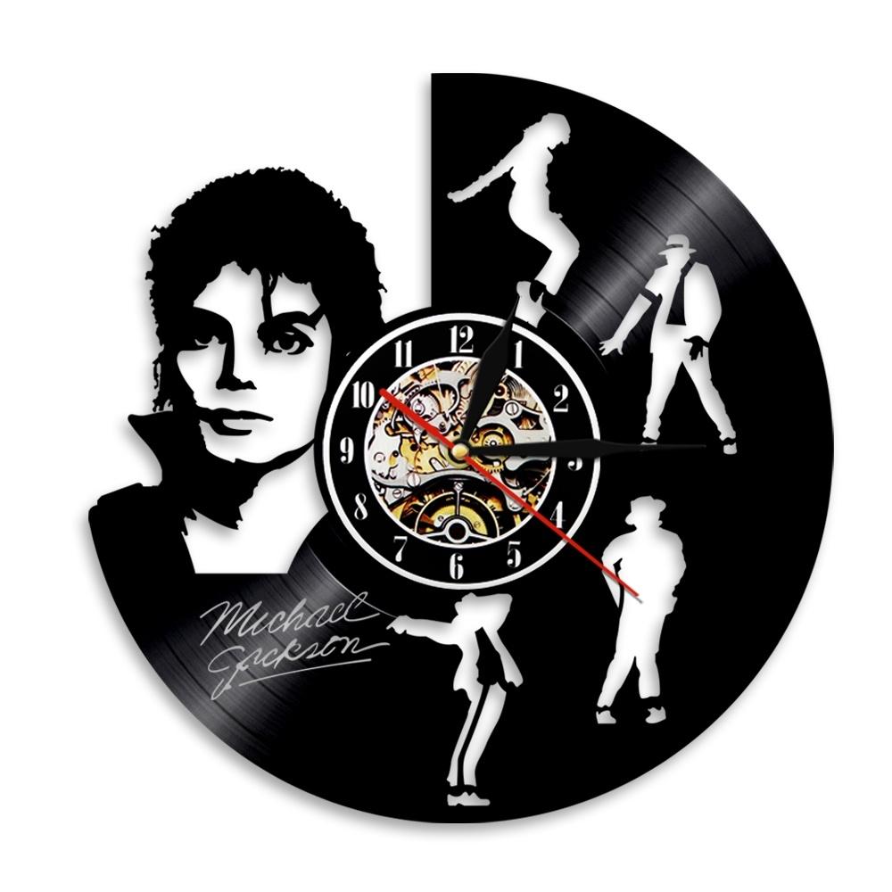 Michael Jackson vinyl record wall clock American design creativity retro nostalgic wall decoration MJ powder gift