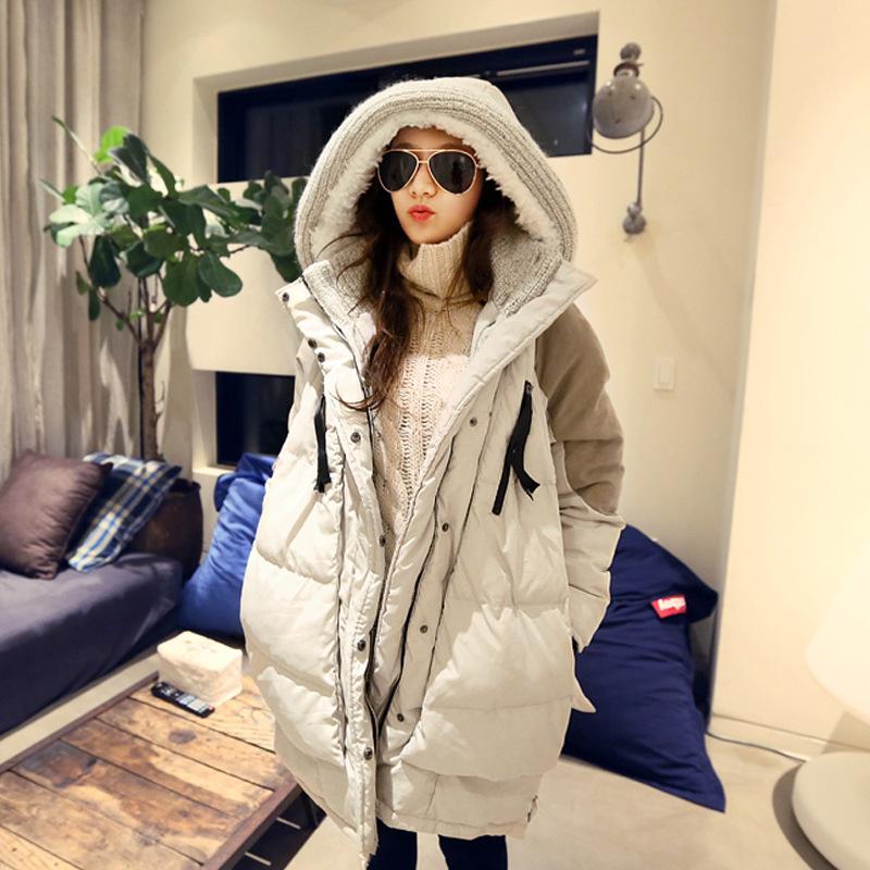 Беременная женщина куртка девочки длинная модель корейский беременная женщина наряд зима беременная женщина пальто свободные большой размеров осень зима подбитый зима