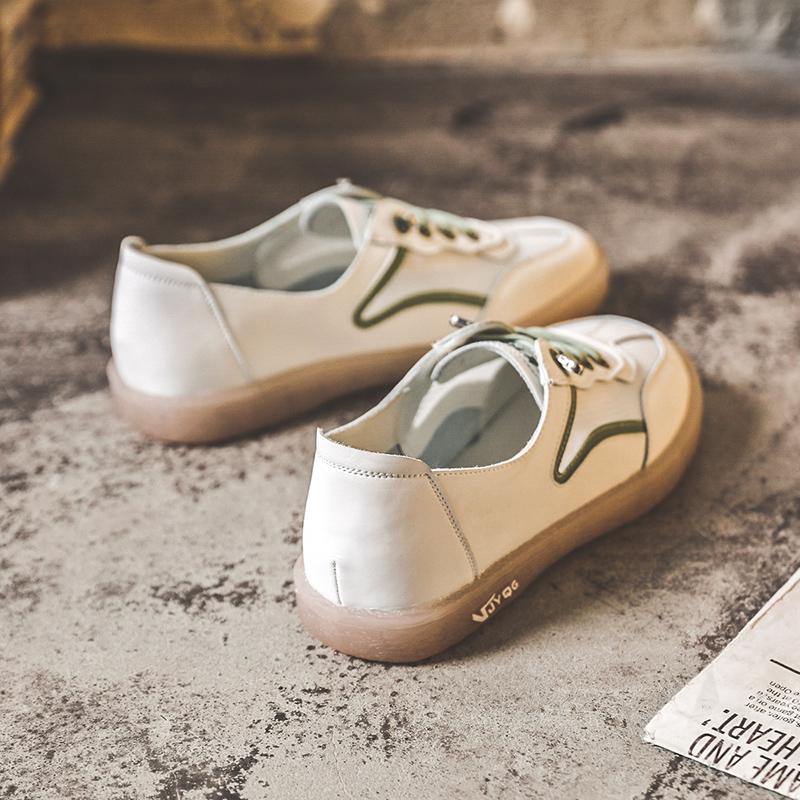 鞋子女2020年新款春季透气小白鞋女鞋真皮爆款夏季薄款女休闲板鞋