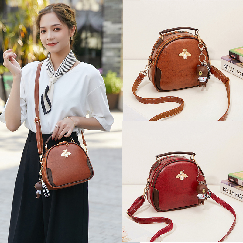 New fashion Korean fashion One Shoulder Messenger Bag retro Mini hand bag for women
