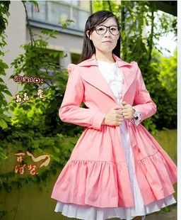 Early spring 2013 new women s long sleeved windbreaker jacket Slim sweet temperament ladies skirt 8012
