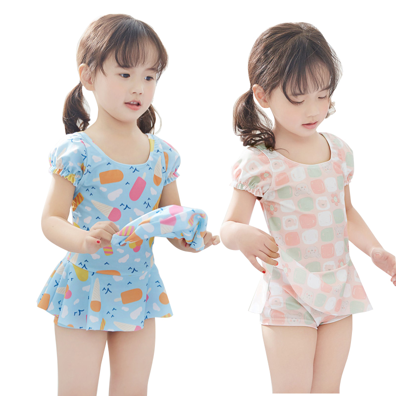 儿童泳衣女童泳装小童幼儿女孩公主裙可爱2连体3岁小孩宝宝游泳衣