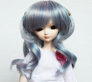 sd doll 1 / 6bjd doll colorful high temperature wire Wigs / wig accessories doll sixth dither Wigs / wig accessories