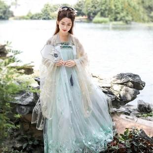 明制漢服全套白菜古風演出畢業女裝星空十二破裙襦裙古裝秋季仙女