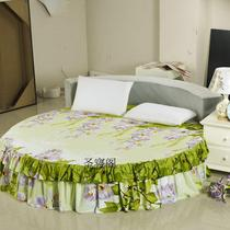 Custom: 60 cotton Fabrics Custom round sheets round bed skirt round bed four-piece set