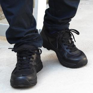 进口材质防水透气作训鞋 低帮战术靴男女 耐磨防滑超轻作战靴黑色