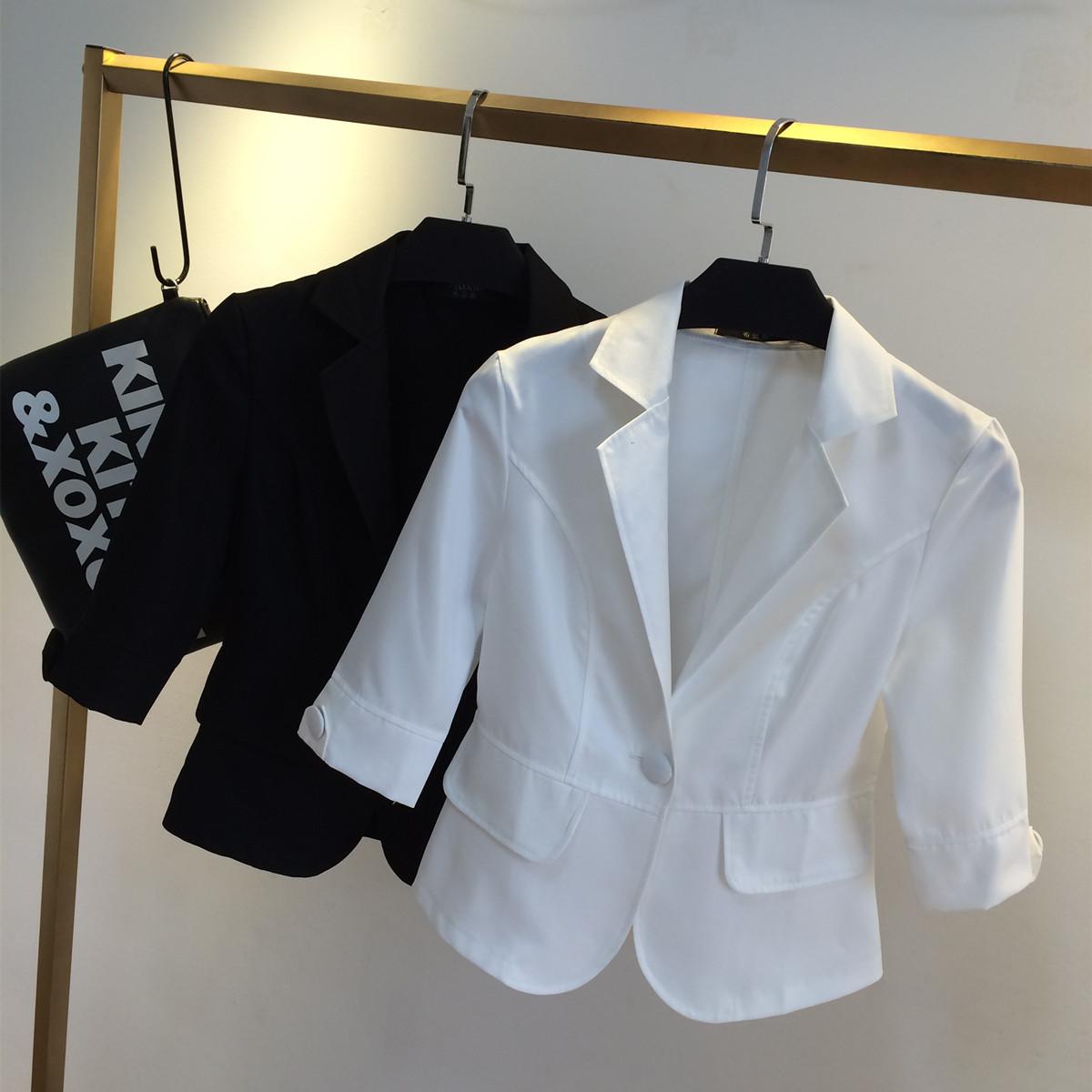 【 каждый день специальное предложение 】 новый издание 7 филиал OL тонкий короткий костюм тонкий короткий рукав жир MM большой двор малявка одежда пальто женщина